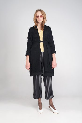 Black woolen cardigan
